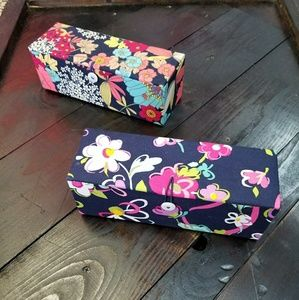 Lot of 2 Vera Bradley boxes storage jewrlry euc